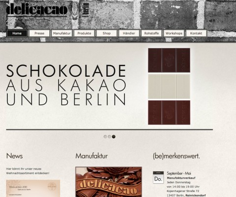 Screenshot der Webseite delicacao-berlin.com