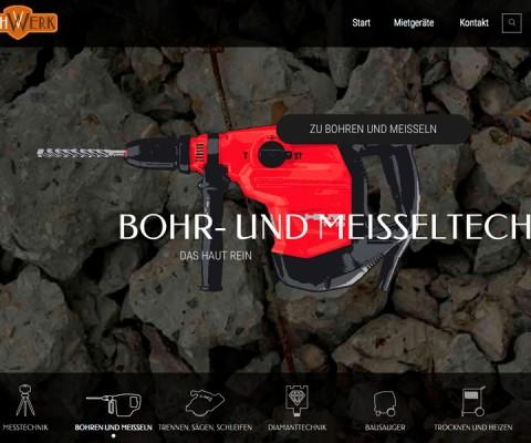 Screenshot der Webseite leihwerk.de